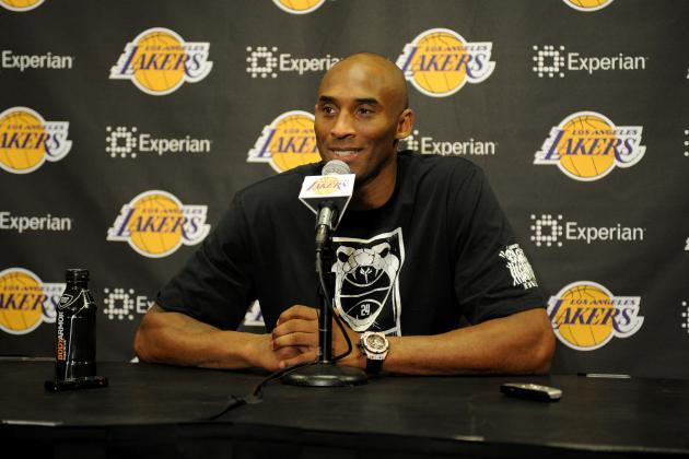 Kobe Bryant Gives Self 'F' Grade in Return
