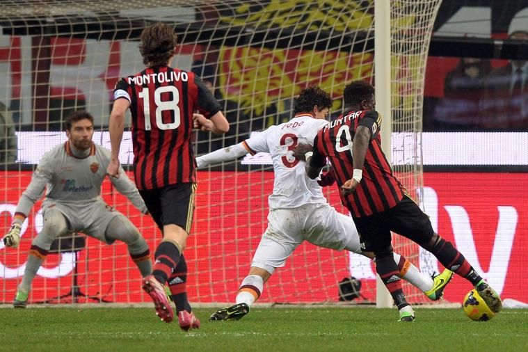 GIF: Sulley Muntari Scores for AC Milan vs. Roma
