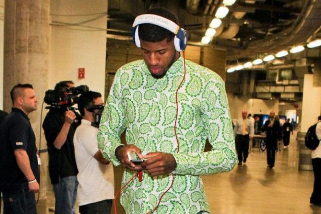 Paul George Toned It Down By A Wearing A Picnic Blanket To Game 5