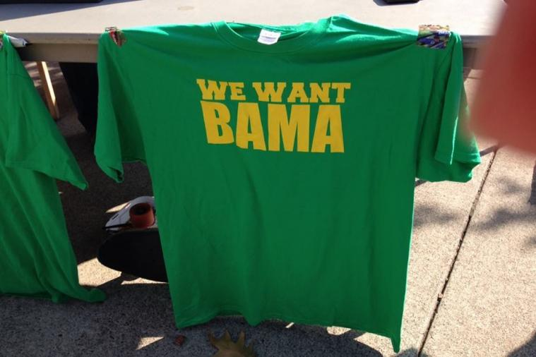 'We Want Bama' T-Shirts Being Sold on Oregon Campus