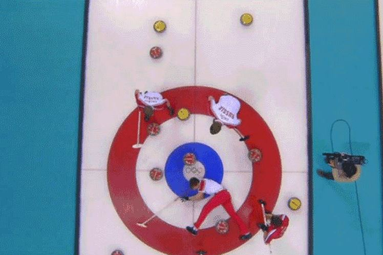 Russian Olympian Shows the Dangers of Curling