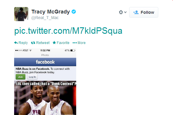 Tracy McGrady Reacts to the 2014 NBA Slam Dunk Contest