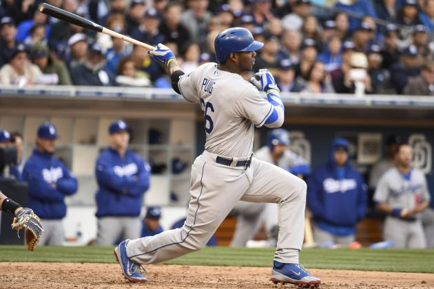 Yasiel Puig Hits 1st Home Run of 2014 Season vs. Padres