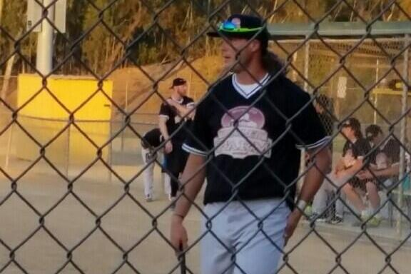 Philip Rivers Wears a Wig While Playing Softball