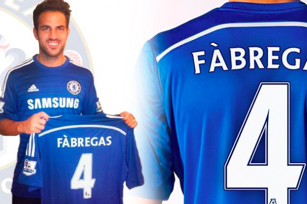 Cesc Fabregas Poses in Chelsea Kit After Deal Agreed with Barcelona