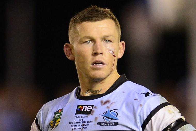 Cronulla Sharks' Todd Carney Sacked for Photo of him Urinating into Own Mouth