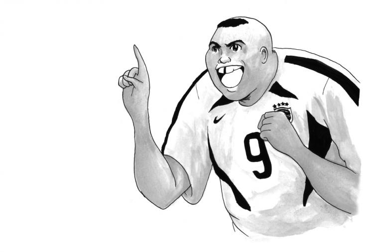 Artist Illustrates World Cup Legends Including Ronaldo in Japanese Manga Style