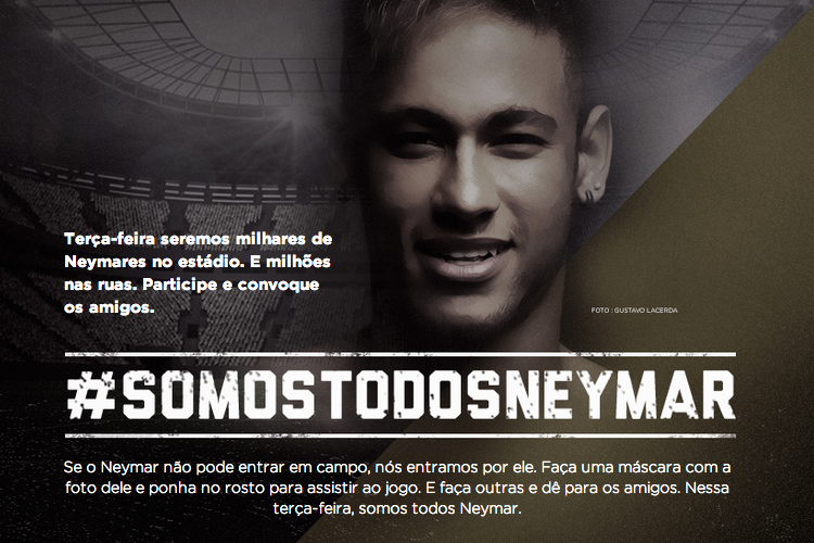 60,000 Fans Urged to Wear Neymar Masks at Brazil vs. Germany World Cup Match