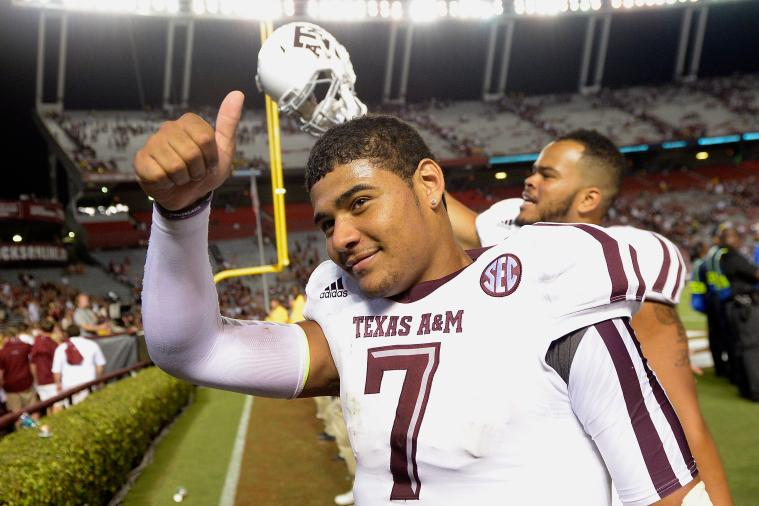 Johnny Manziel Congratulates Kenny Hill After Win, Relinquishes 'Football' Name