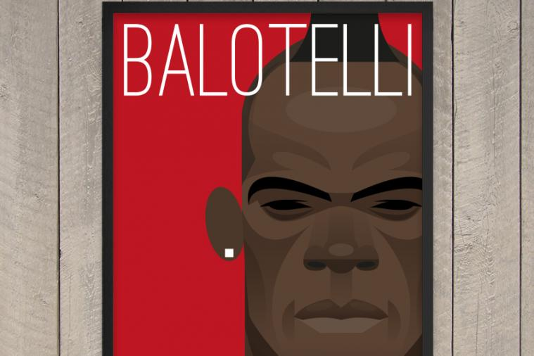 Win an Exclusive Mario Balotelli Liverpool Print by the Artist Stanley Chow