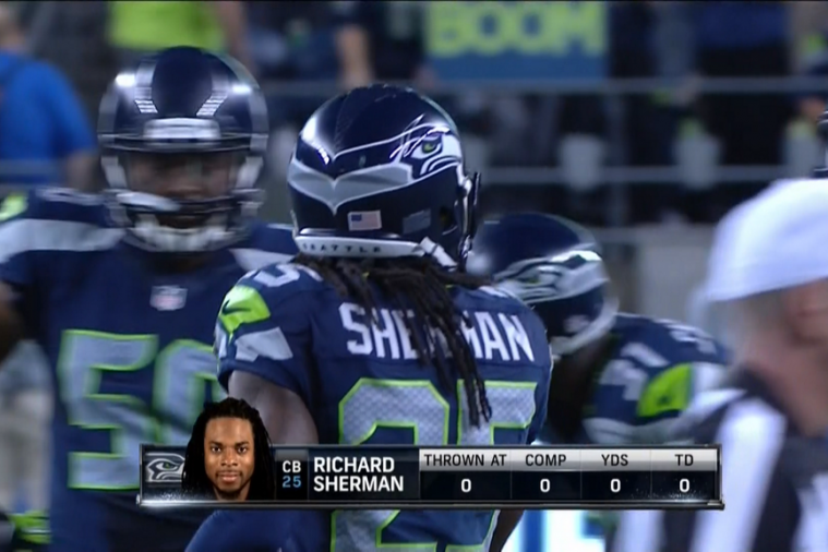 Richard Sherman Targeted Zero Times During Win over Packers