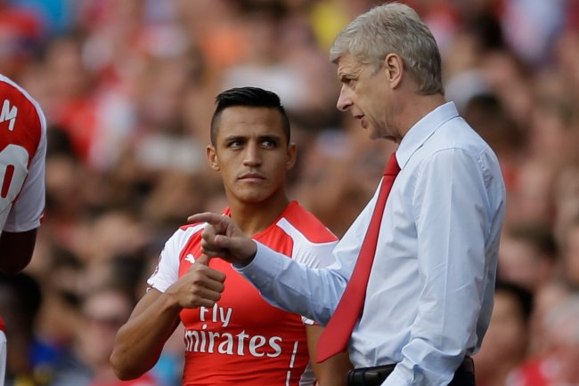 Image result for alexis sanchez\ with wenger