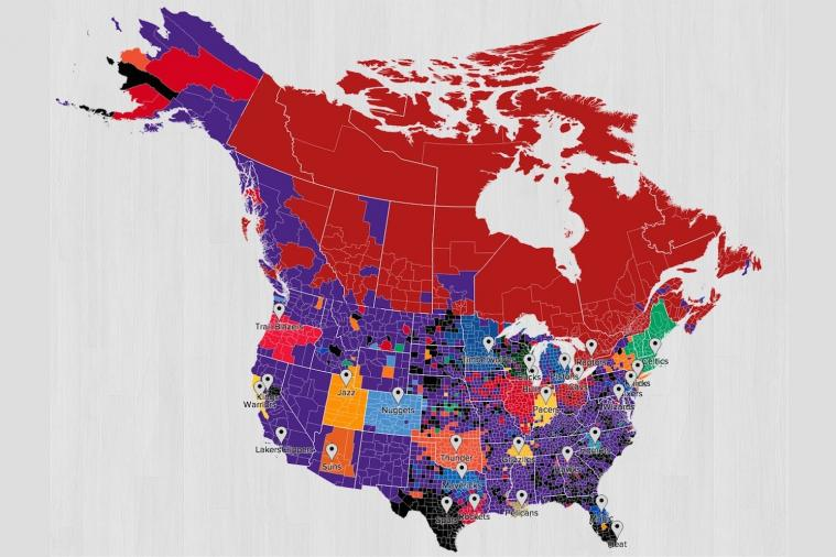 Nba Twitter Fan Follower Map Shows Lakers Are Most
