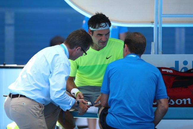 Federer trainer mano - Melbourne '15 - IMG