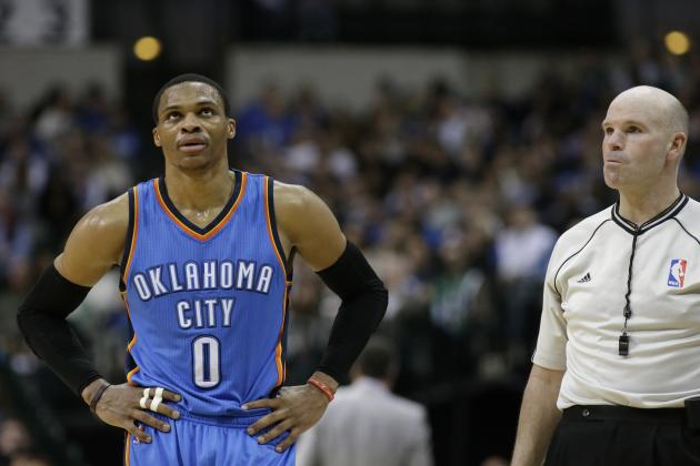 Russell Westbrook Says He's Cooling It with Technicals, Kevin Durant Disagrees