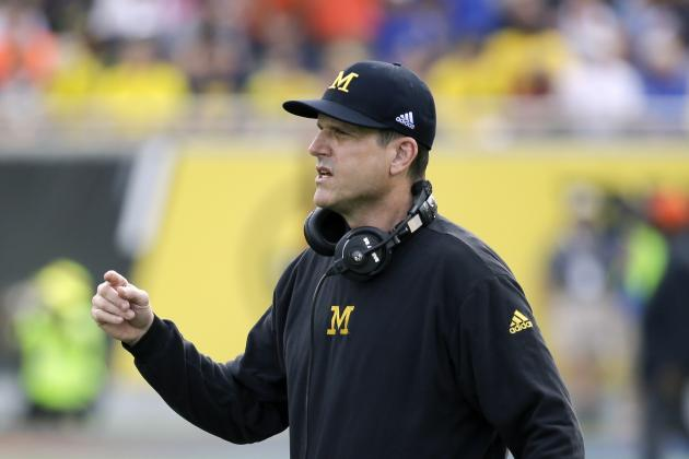 Jim Harbaugh Dons Sweatpants, Sleeps Over at Recruit's House
