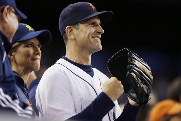 Jim Harbaugh to Coach 1st Base for Detroit Tigers in Spring Training Game