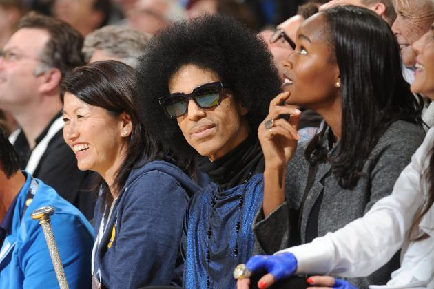 Prince Says He Knows Stephen Curry Is Taking His Place in History at Oracle Show