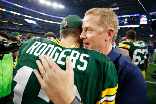 Jason Garrett played QB in the NFL. He beat the Brett Favre Packers in the mid 90's when Aikman was out. He's been eliminated by Rodgers the past two times he's gotten his team to the playoffs.