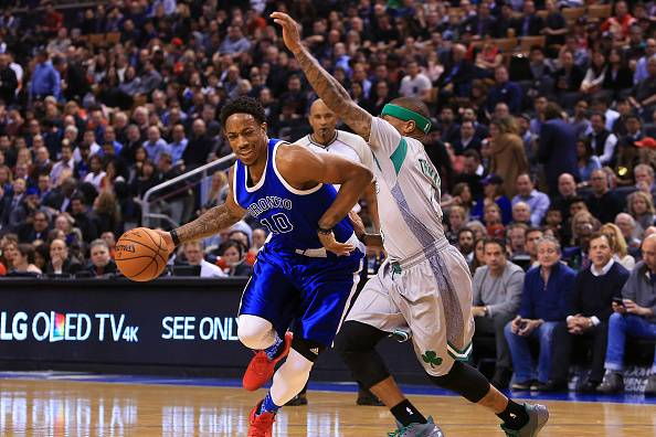 Image result for demar and isaiah thomas celtics