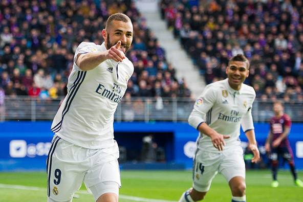 Image result for real madrid Benzema 2017