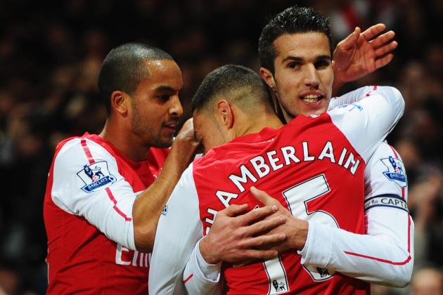 Arsenal News: Chamberlain Shines, Van Persie Scores and Arshavin Screws Up