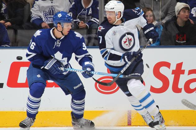 NHL Breaking News: Carl Gunnarsson and Joey Crabb Tussle During Leafs Practice
