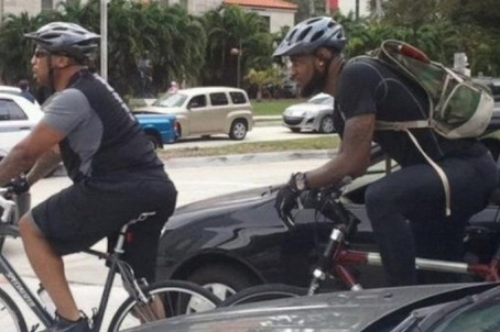 LeBron James Channels His Inner Child by Biking to AA Arena