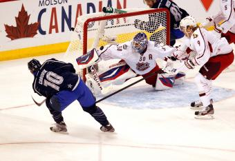 Gaborik lit up his Rangers goaltender Lundqvist for two goals in the first period.