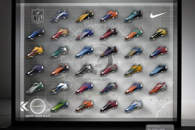 NFL Pro Bowl 2012 Uniforms: Sneak Peek at Players' New Nike Cleats