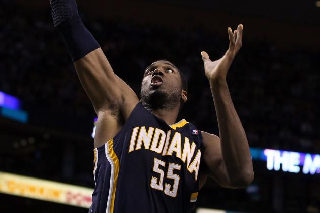 Big Game by Roy Hibbert Lifts Indiana Pacers over New Jersey Nets