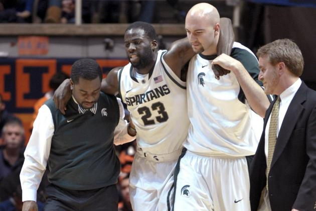 Draymond Green Injured in Michigan State's Ice Cold Effort Against Illinois