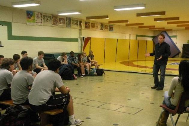Mark Bocek: UFC Lightweight Discusses His Visit to Pickering High School