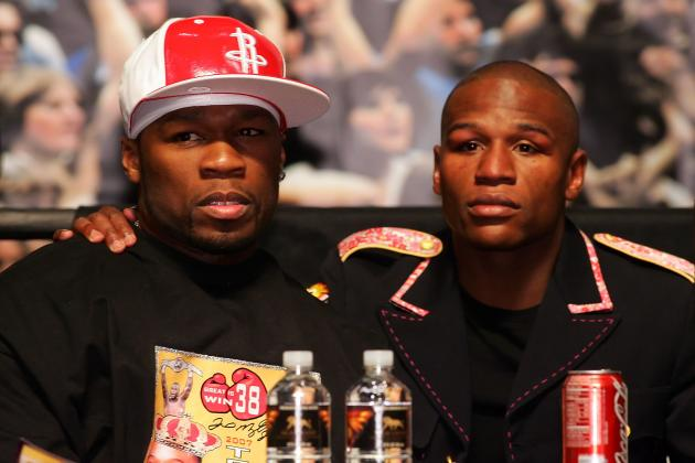 Floyd Mayweather and 50 Cent Stop Traffic in Indianapolis Promoting May 5 Bout