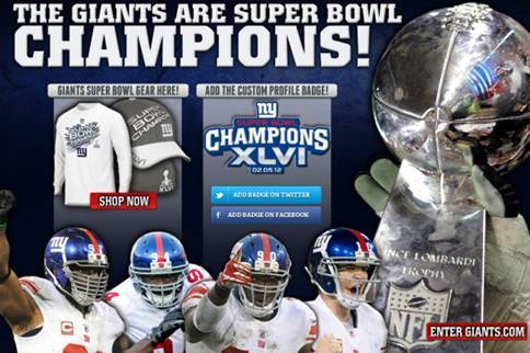 Super Bowl 2012: Giants' Website Accidentally Proclaims New York World Champions