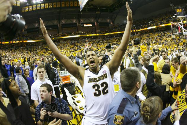 Missouri Comes Back to Defeat No.8 Kansas at Home; Big 12 Race Is Open