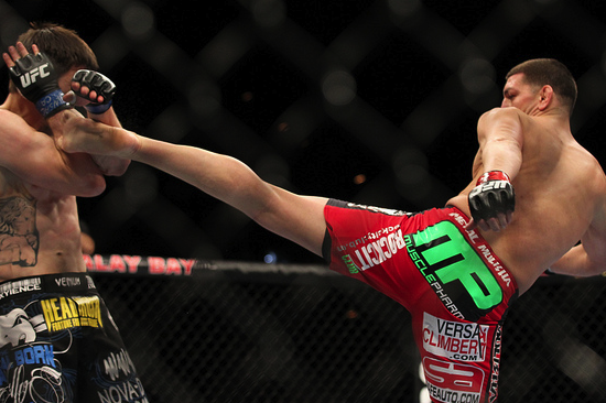 UFC 143 Results: Was Carlos Condit's Run from Nick Diaz Bad for the Sport?