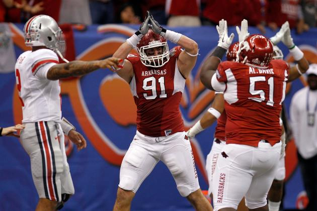 NFL Draft 2012: Should the New Orleans Saints Draft Arkansas DE Jake Bequette?