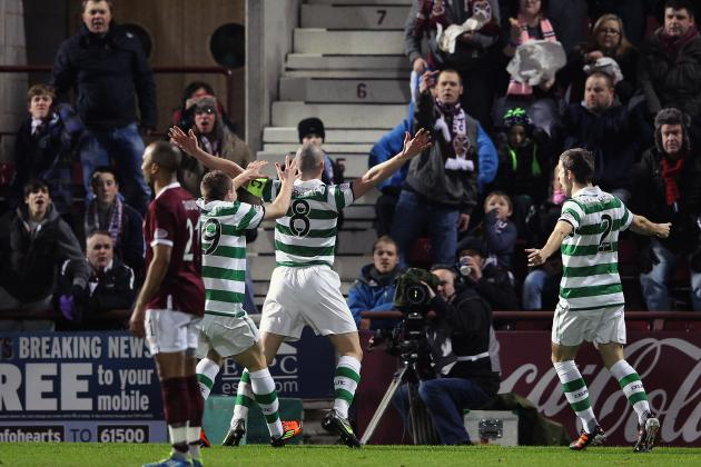 Celtic vs. Hearts: Celtic Coast to 4-0 Win After Goal Denied