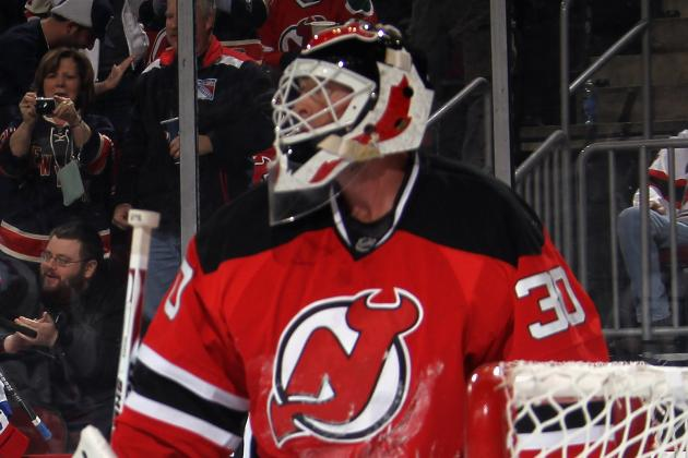 Hedberg to Start Tonight vs. Blues; Brodeur Says He's OK to Back Up