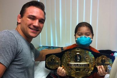MMA's Michael Chandler Determined to Help Children Who Battle Through Cancer