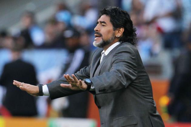 EPL News: Maradona Hits out at Roberto Mancini on the Tevez Saga