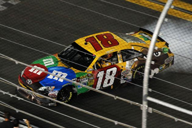 Kyle Busch Holds on in Thrilling Finish