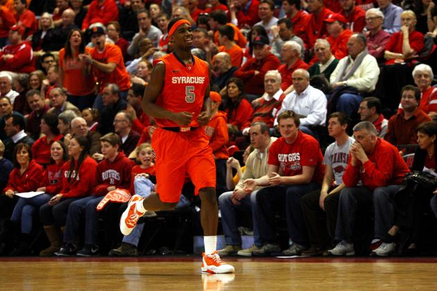 Syracuse Basketball: C.J. Fair and Scoop Jardine Pace Hard-Fought Win at Rutgers