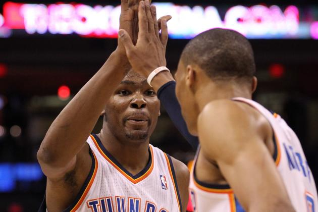 Kevin Durant and Russell Westbrook Combine for 91 in Oklahoma City Win