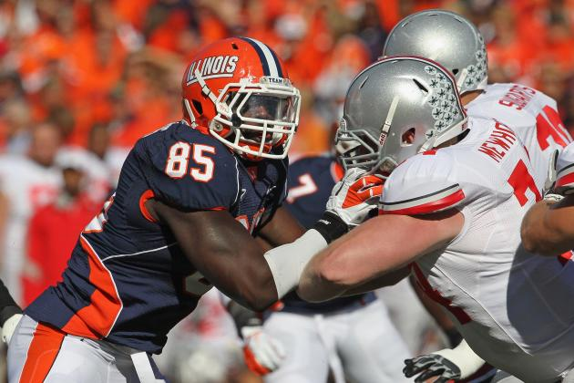Whitney Mercilus, DE/OLB, Illinois: Scouting Report and Game Film