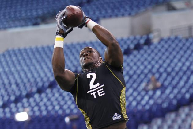 NFL Combine 2012 Results: Orson Charles Improves Stock with Super-Human Strength