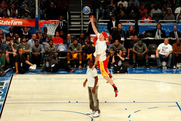 NBA Slam Dunk 2012 Video: Chase Budinger's Diddy Jam Was Classic Billy Hoyle