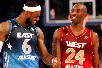 Carmelo Anthony and Kobe Bryant Heckle LeBron James After Last-Second Pass