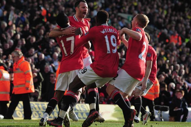 Norwich 1-2 Man United: Giggs Hits Last-Minute Winner on His Landmark Day